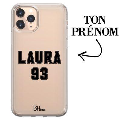Coque avec prénom et numéro pour iPhone 11 Pro