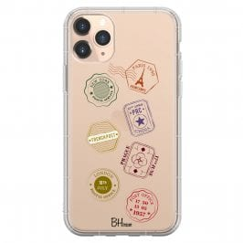 Travel Stamps Coque iPhone 11 Pro Max