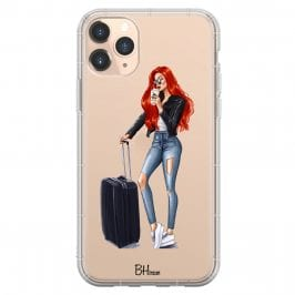 Woman Redhead With Baggage Coque iPhone 11 Pro Max