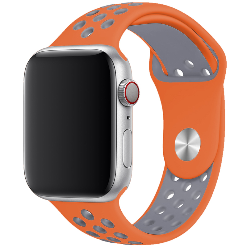 Sport Bracelet Apple Watch 42/44mm Orange/Silver Large