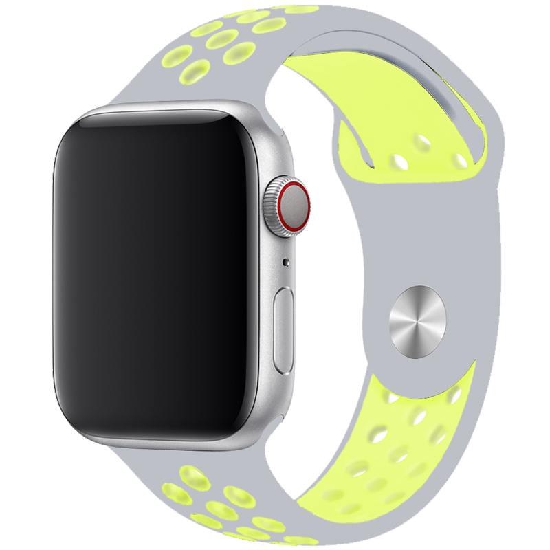 Sport Bracelet Apple Watch 42/44mm Silver/Yellow Large