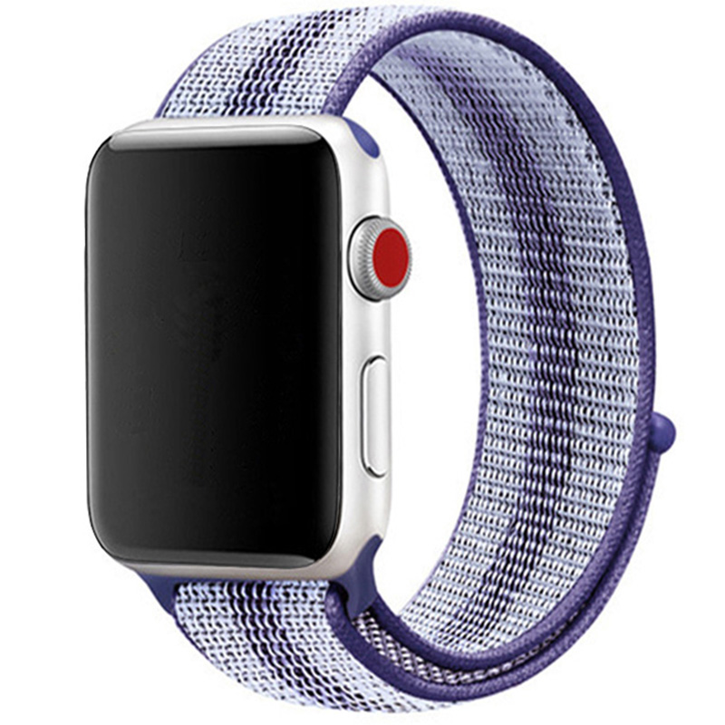Nylon Bracelet Apple Watch 42/44mm Striped Purple