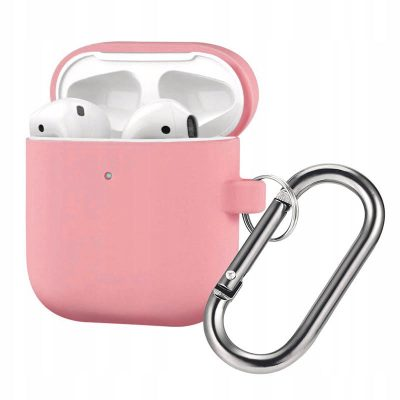 Silicone Protective Coque For Airpods Pink Light