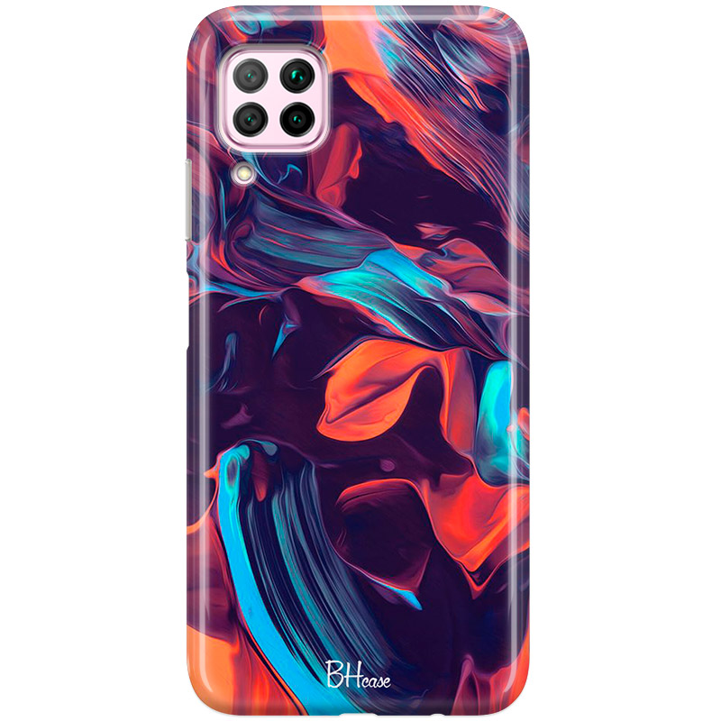 Abstract Purple Coque Huawei P40 Lite