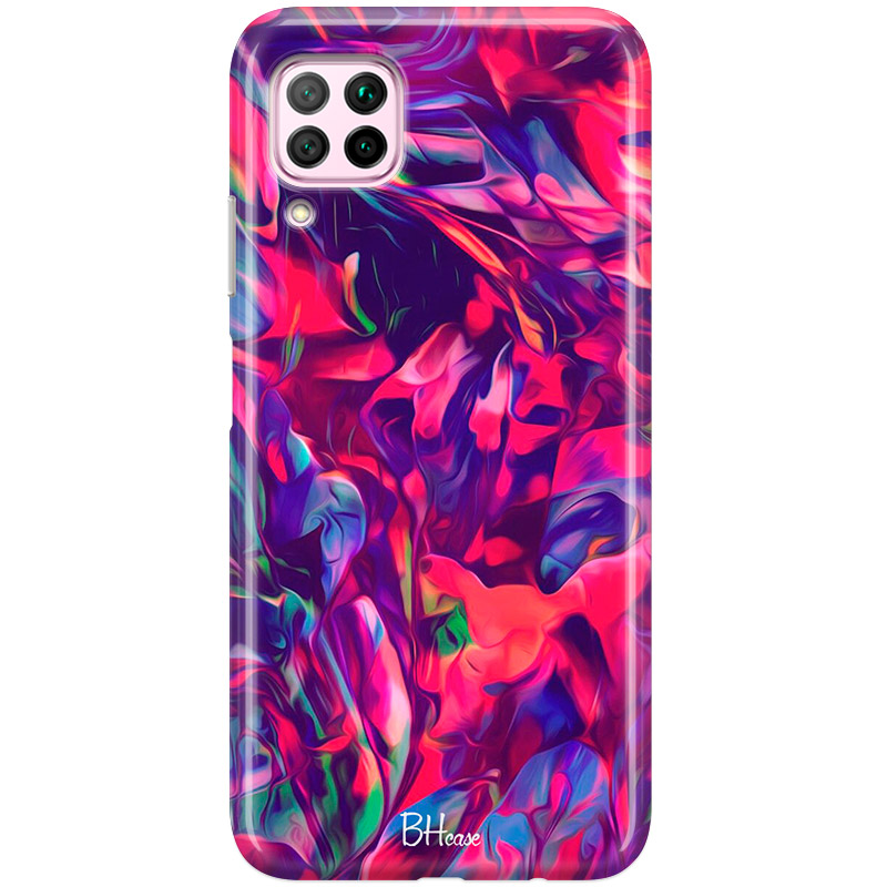 Abstract Red Coque Huawei P40 Lite