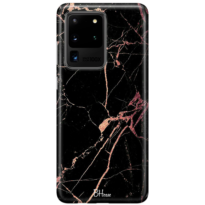 Black Rose Marble Coque Samsung S20 Ultra