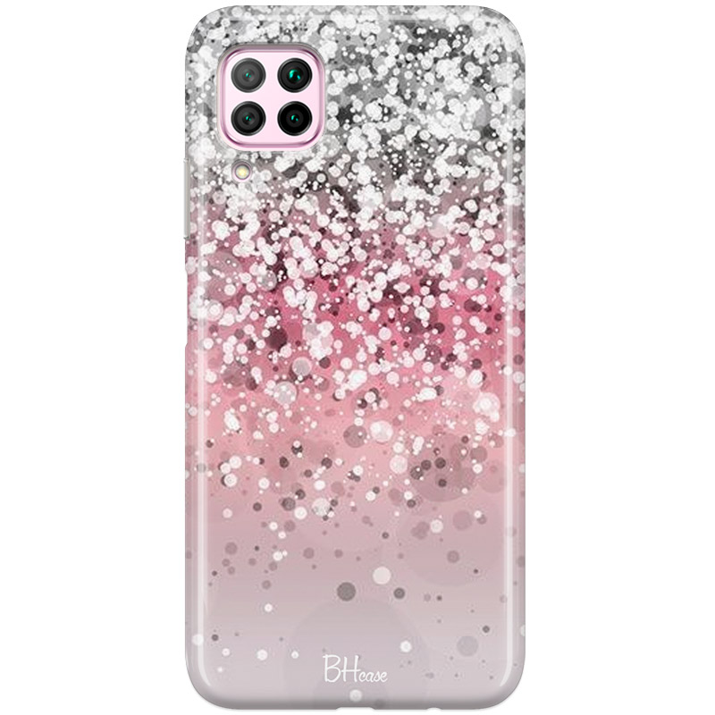 Glitter Pink Silver Coque Huawei P40 Lite