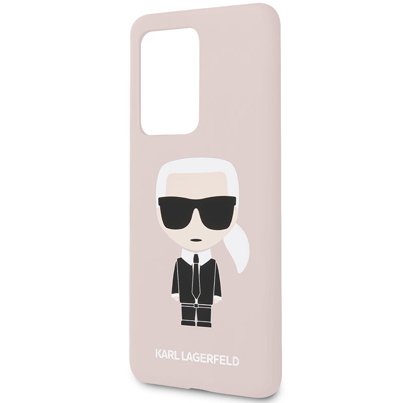 Karl Lagerfeld Iconic Full Body Silicone Pink Coque Samsung S20 Ultra