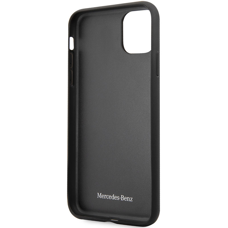Mercedes Quilted Leather Black Coque iPhone 11 Pro Max