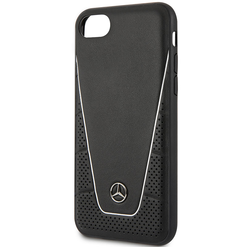 Mercedes Quilted Leather Black Coque iPhone 8/7/SE 2 2020