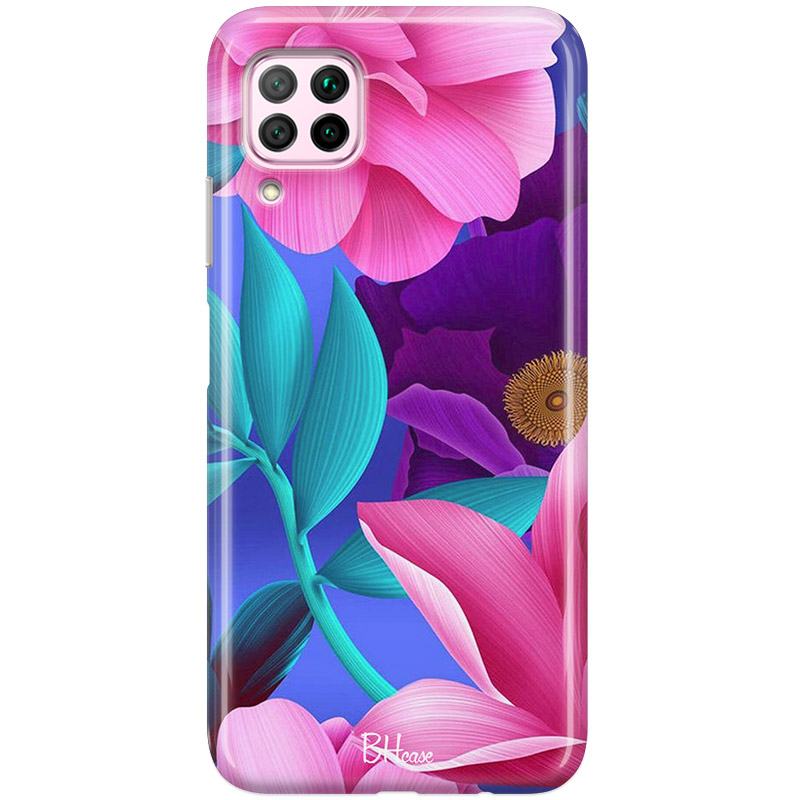 Pinky Floral Coque Huawei P40 Lite