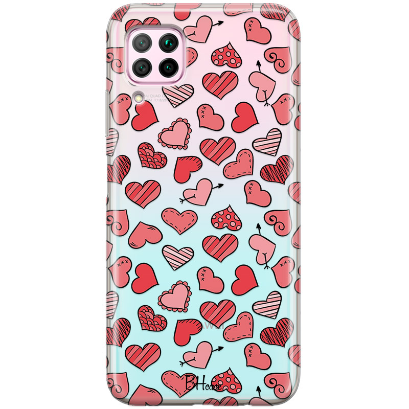 Hearts Red Coque Huawei P40 Lite