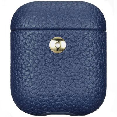 iCarer Hermes Leather Coque AirPods Blue