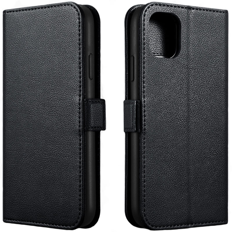 iCarer Nappa Detachable 2in1 Wallet Leather Black Coque iPhone 11