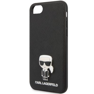 Karl Lagerfeld Saffiano Iconic Black Coque iPhone 8/7/SE 2 2020
