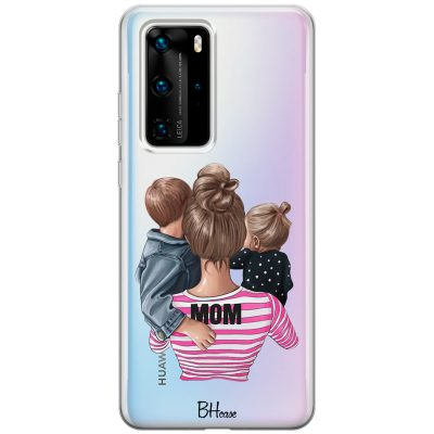 Mom Of Girl And Boy Coque Huawei P40 Pro