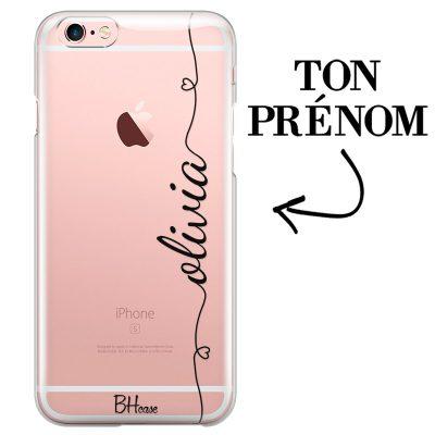Coque avec coeur et nom iPhone 6/6S