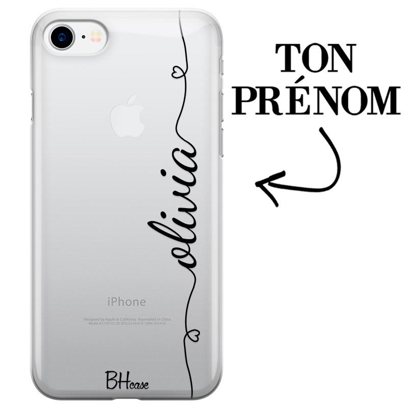 Coque avec coeur et nom iPhone 7/8/SE 2 2020