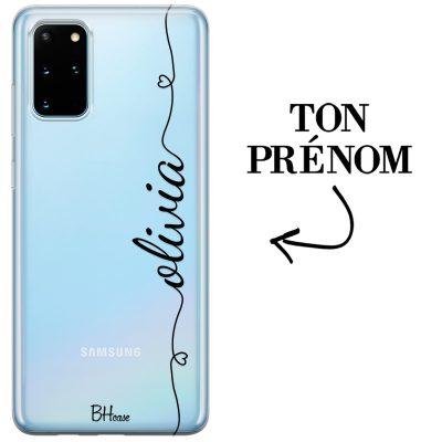 Coque avec coeur et nom Samsung S20 Plus