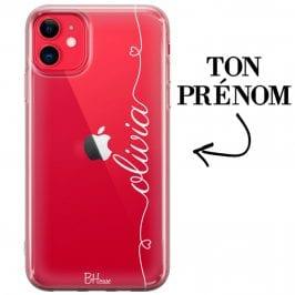Coque avec coeur et nom iPhone 11