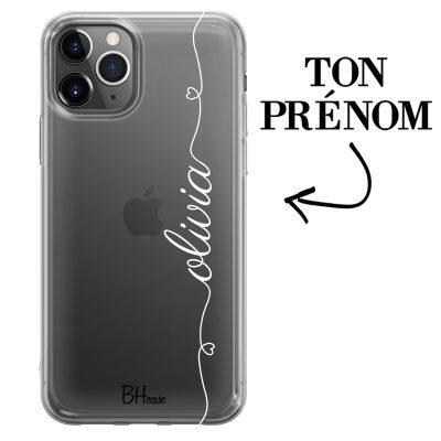 Coque avec coeur et nom iPhone 11 Pro