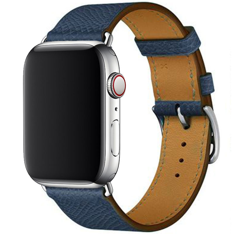 Leather Strap Apple Watch 42/44mm Navy