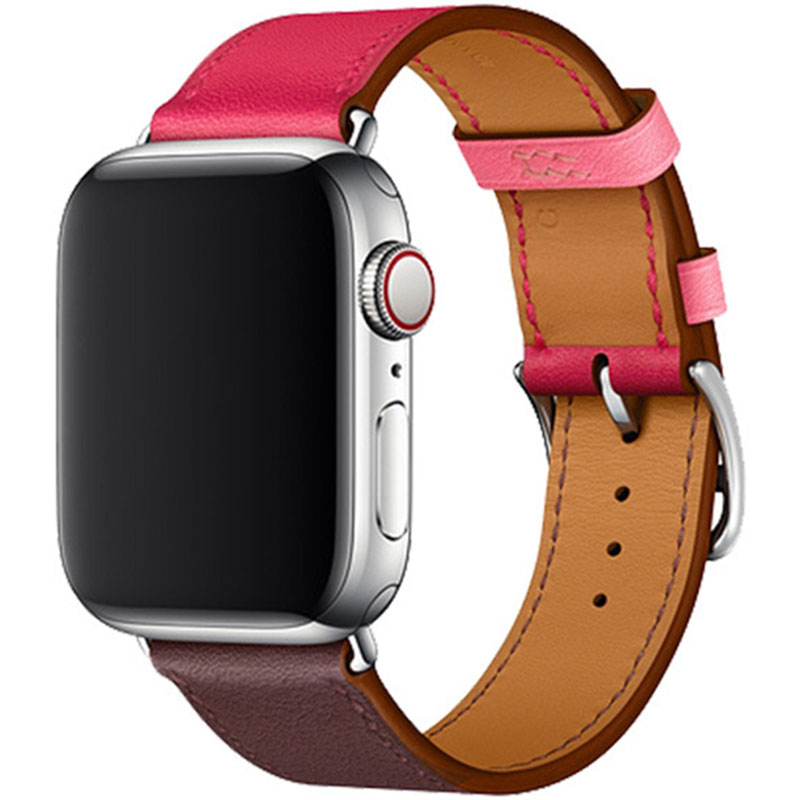 Leather Strap Apple Watch 42/44mm Wine Red Rose