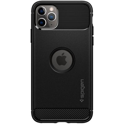 Spigen Rugged Armor Matte Black Coque iPhone 11 Pro