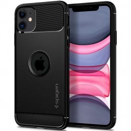 Spigen Rugged Armor Matte Black Coque iPhone 11
