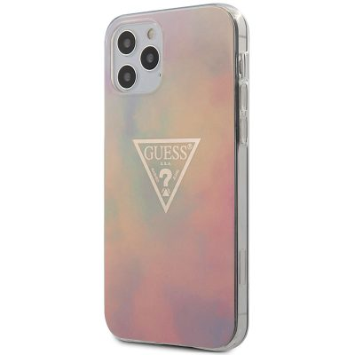 Guess TPU Gold Triangle Pink Coque iPhone 12/12 Pro