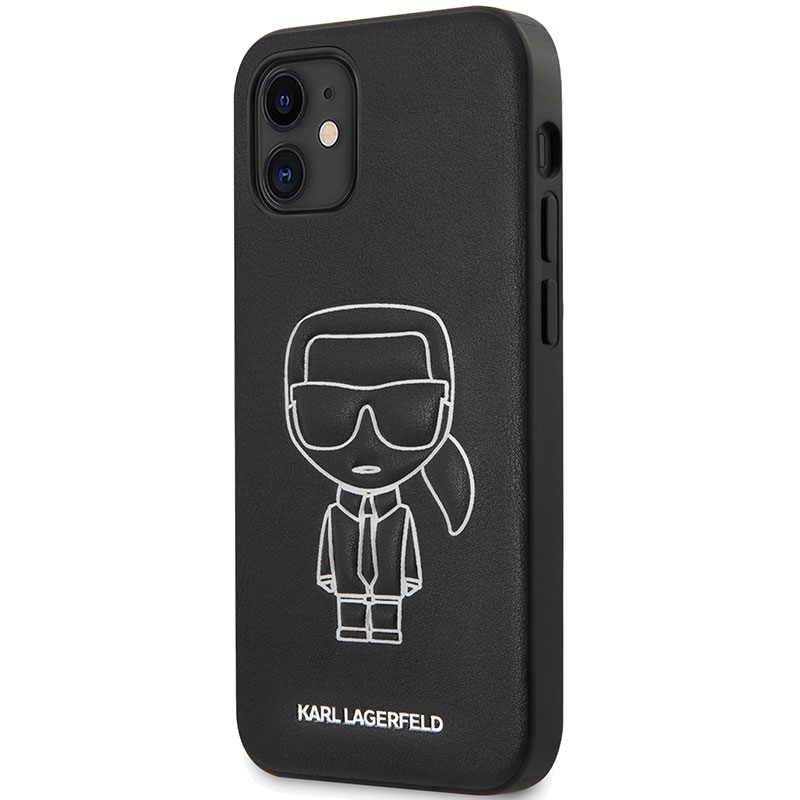 Karl Lagerfeld PU Embossed White Coque iPhone 12 Mini