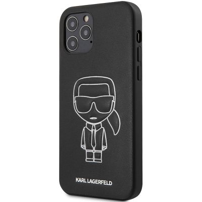 Karl Lagerfeld PU Embossed White Coque iPhone 12/12 Pro