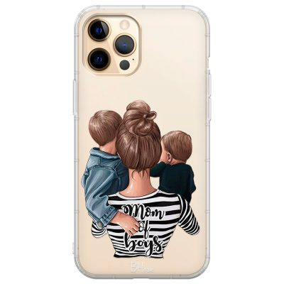 Mom of Boys Coque iPhone 12 Pro Max