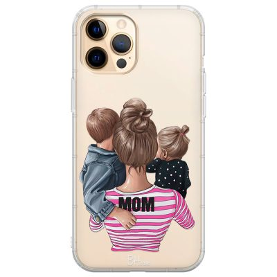 Mom Of Girl And Boy Coque iPhone 12 Pro Max