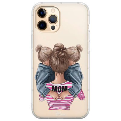 Mom Of Girl Twins Coque iPhone 12 Pro Max